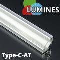 Type-C - Aluminium sarokprofil LED szalagos világításhoz, átlátszó burával