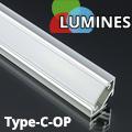 Type-C - Aluminium sarokprofil LED szalagos világításhoz, opál burával