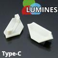 Type-C Végzáró aluminium sarokprofilhoz, szürke