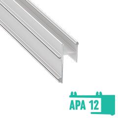 APA12 - Alumínium profil LED szalagos világításhoz 20x40mm, gipszkarton élvilágító, opál burával