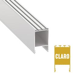 CLARO - Alumínium U profil LED szalagos világításhoz 73x43mm, opál burával