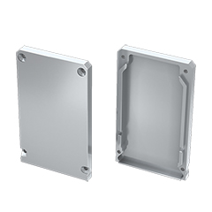 CLARO - Véglezáró elem Alumínium U profilhoz, matt alu