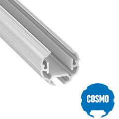 COSMO - Aluminium függeszthető kör alakú profil LED szalagos világításhoz ø25 mm, opál burával