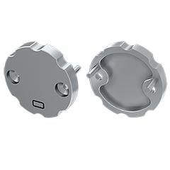 COSMO - Véglezáró elem, függeszthető kör alakú Alumínium LED profilhoz, szürke