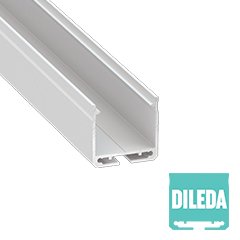 DILEDA - Alumínium U profil LED szalagos világításhoz 27x26mm, opál PMMA burával