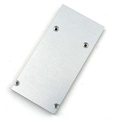DULIO - Véglezáró elem Aluminium U profilhoz, matt alu