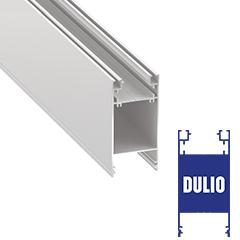 DULIO - Aluminium U profil LED szalagos világításhoz 89x43mm, opál burával