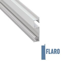 FLARO - Aluminium profil LED szalagos világításhoz 18x72mm, parkettaszegély világításhoz, opál burával