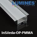 SiledaIn - Bútorlapba építhető alu profil, ellenálló PMMA opál burával