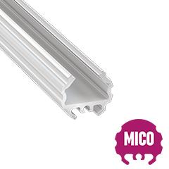 MICO - Aluminium függeszthető kör alakú profil LED szalagos világításhoz ø16 mm, opál burával