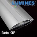 Reto - Több szögben felszerelhető pultvilágítás LED szalaghoz, opál burával