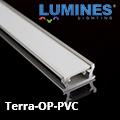 Terra - Burkolatba építhető alumínium profil LED szalaghoz, opál (PVC) burával