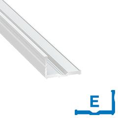 Type-E - Alumínium L profil LED szalaghoz, 20x12 mm üvegpolchoz