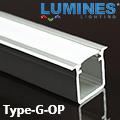 Type-G - Alu süllyeszthető U profil LED szalaghoz, opál burával