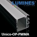Design Unico oldalfali alu profil ezüst - opál PMMA burával
