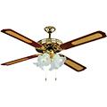- Mennyezeti ventilátor réz (4 lapát, 4xE27 foglalat)