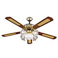 - Mennyezeti ventilátor réz (5 lapát, 5xE27 foglalat)