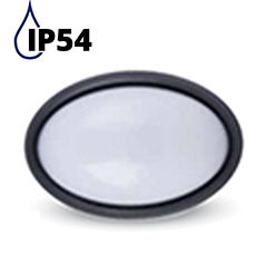 Dome-O IP54 kültéri LED lámpa - fekete (8W) 3000K