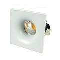 Spot LED lámpa, fix, négyzet, fehér (3W) hideg fehér