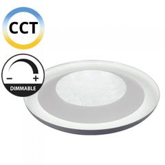 Mennyezeti kristályos LED panel (48W - kör) falon kívüli, változtatható színhőmérséklet + fényerő állítás