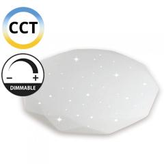 Mennyezeti csillagos LED panel (40W - gyémánt) falon kívüli, változtatható színhőmérséklet + fényerő állítás