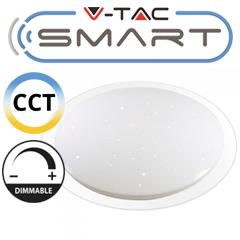 Mennyezeti csillagos LED panel (40W - kör) okoskészülékkel vezérelhető, változtatható színhőmérséklet + fényerő állítás
