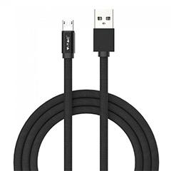 Ruby USB - Micro USB pamut-szövetkábel (1 méter) fekete - USB 2.0