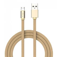 Ruby USB - Micro USB pamut-szövetkábel (1 méter) arany - USB 2.0