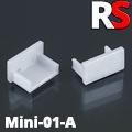 - MINI-01-A Alumínium U profilhoz végzáró elem, műanyag, szürke
