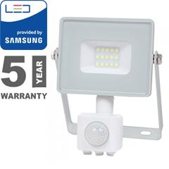 Mozgásérzékelős PRO-W LED reflektor (10W/100°) hideg fehér