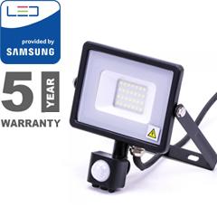 Mozgásérzékelős PRO-B LED reflektor (20W/100°) hideg fehér