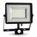 Mozgásérzékelős LED reflektor (30W/100°) Black 3000K Kifutó
