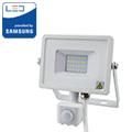 Mozgásérzékelős PRO-W LED reflektor (10W/100°) meleg fehér
