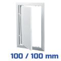 Vents ellenőrző ablak, műanyag, fehér (100/100 mm)