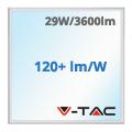 LED panel (600 x 600mm) 29W - hideg fehér (120+lm/W) A++