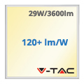 LED panel (600 x 600mm) 29W - meleg fehér (120+lm/W) A++