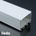 Iledo Alu XXL U profil ezüst, LED szalaghoz, opál burával