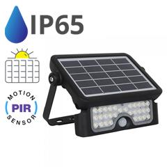 Napelemes LED reflektor (5W/90°) - természetes fehér, mozgásérzékelős