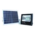 Napelem + LED reflektor (1050 lumen/120°) - Hideg fehér, távirányítós