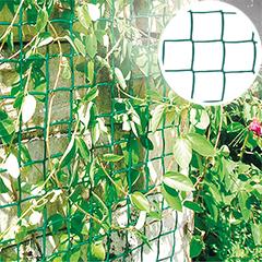 Műanyag rács növényekhez, 46x44 mm osztású, Climbanet (0,5 x 25 méter) zöld