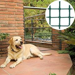 Műanyag rács kapukhoz, 32x28 szemméret, Doornet (0.5 x 5 méter) zöld