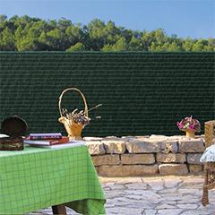 Belátásgátló háló 100%, szintetikus pálmaháncs PRIVATEX (1x3 méter) zöld
