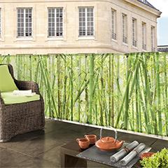 Belátásgátló fűzőlyukkal 85%, nyomtatott minta STYLIA (1x3 méter) bambusz
