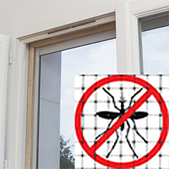 Szúnyog ellen: ALUNET alumínium szúnyogháló (1 x 2.5 méter) ezüst