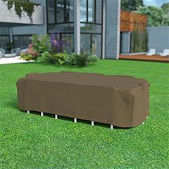 - Covertop kerti bútor takaró huzat (325x205x90cm) négyszögletes asztal + 8 szék