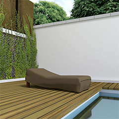 COVERTOP Kerti bútortakaró (200x80x40cm) drapp