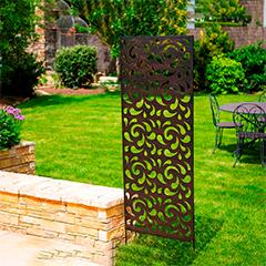 Dekorációs fém panel, leszúrható vagy falra szerelhető (150x60 cm) fémcsepp