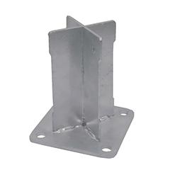 - Térelválasztó panelhez rögzítő alap: talajra csavarozható talp - Basfix Floor