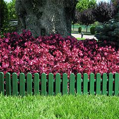 - Ágyásszegély Flora Border, műanyag mini kerítés, zöld (250 cm x 20 cm)