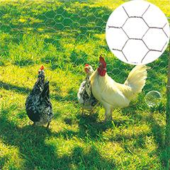 Fém csirkeháló, 3x csavart hatszög drótháló, 13 mm szemméret, Galvanex (0.5x25m)